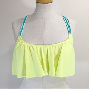 Pink Victoria Secret Ruffle Size Medium  Swim Top
